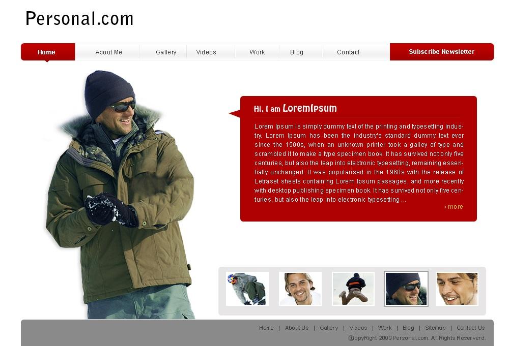 Personal Templates / Личен сайт (шаблон)