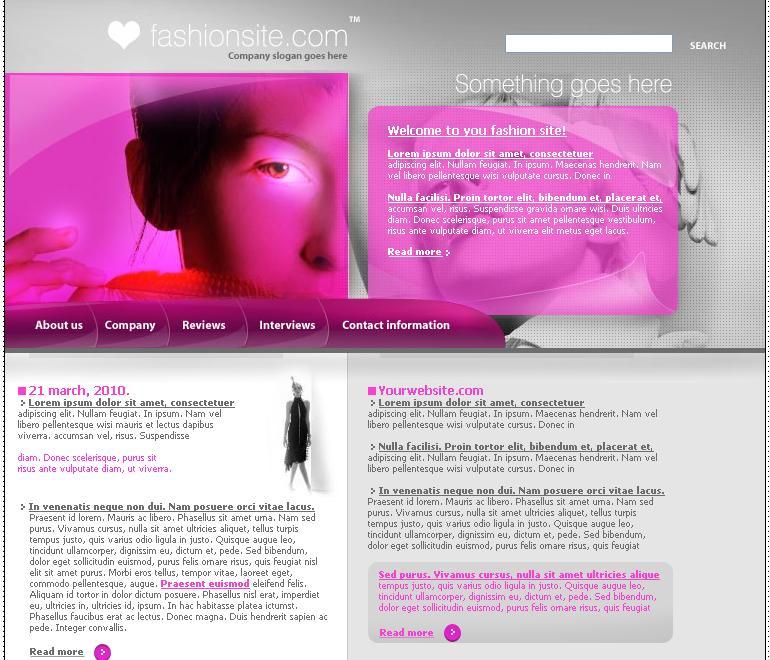 The Pink Fashion Site / Моден, розов сайт